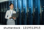 Beautiful Data Center Female I...