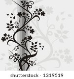 floral background  vector... | Shutterstock .eps vector #1319519