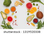 healthy food background with... | Shutterstock . vector #1319520338