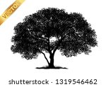 tree silhouette isolated on... | Shutterstock .eps vector #1319546462