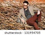 sexy fashion man model dressed... | Shutterstock . vector #131954705