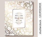 antique royal luxury wedding...   Shutterstock .eps vector #1319553935