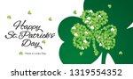 happy st patricks day... | Shutterstock .eps vector #1319554352