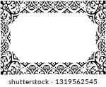 black simply ornament frame on...   Shutterstock .eps vector #1319562545