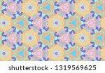 whimsical ethnic seamless...   Shutterstock .eps vector #1319569625