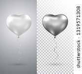 heart silver balloons set on... | Shutterstock .eps vector #1319571308