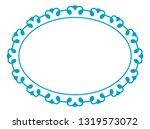 vector vintage oval border... | Shutterstock .eps vector #1319573072