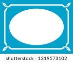 vector vintage oval border... | Shutterstock .eps vector #1319573102