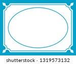 vector vintage oval border...   Shutterstock .eps vector #1319573132