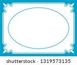 vector vintage oval border...   Shutterstock .eps vector #1319573135