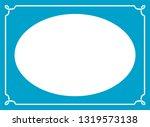 vector vintage oval border...   Shutterstock .eps vector #1319573138