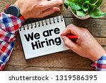 we are hiring text business...   Shutterstock . vector #1319586395