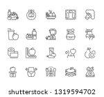 set of diet related vector line ... | Shutterstock .eps vector #1319594702