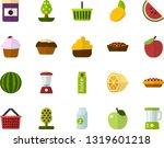 color flat icon set   apple... | Shutterstock .eps vector #1319601218