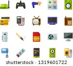 color flat icon set   screen... | Shutterstock .eps vector #1319601722