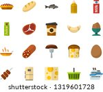 color flat icon set   sausage... | Shutterstock .eps vector #1319601728