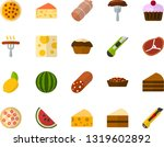 color flat icon set   sausage... | Shutterstock .eps vector #1319602892
