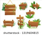 jungle rainforest wood sign... | Shutterstock . vector #1319604815