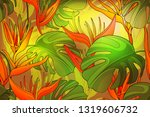 vector art floral and plant... | Shutterstock .eps vector #1319606732
