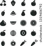 solid black vector icon set  ... | Shutterstock .eps vector #1319606792