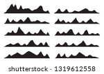 mountains silhouettes on the... | Shutterstock .eps vector #1319612558