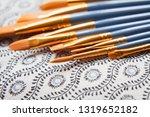 watercolour golden synthetic...   Shutterstock . vector #1319652182