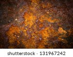 oxidized metal surface making... | Shutterstock . vector #131967242