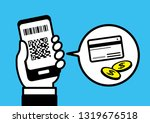 cashless with smartphone | Shutterstock .eps vector #1319676518