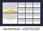 calendar design for 2020.... | Shutterstock .eps vector #1319721245