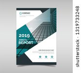 annual report book cover... | Shutterstock .eps vector #1319733248