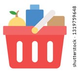 shopping cart  basket flat icon  | Shutterstock .eps vector #1319759648