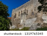 view to the medieval castle of... | Shutterstock . vector #1319765345