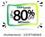 sale up to 80  off  today offer ... | Shutterstock .eps vector #1319768465