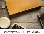 vintage genuine leather wallet... | Shutterstock . vector #1319770082