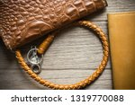 vintage genuine leather wallet... | Shutterstock . vector #1319770088