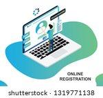 isometric artwork concept of... | Shutterstock .eps vector #1319771138