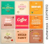 Set Of Retro Bakery Label Card...