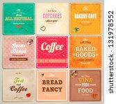set of retro bakery label cards ... | Shutterstock .eps vector #131978552
