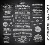 retro elements for summer... | Shutterstock .eps vector #131979245
