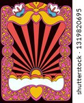 isolated vintage hippie style... | Shutterstock .eps vector #1319820695