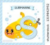 letter s uppercase cute... | Shutterstock .eps vector #1319842952