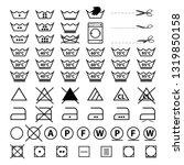 laundry symbols   vector... | Shutterstock .eps vector #1319850158