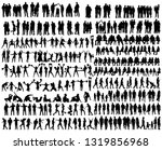 people silhouettes set | Shutterstock .eps vector #1319856968