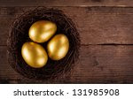 Golden Eggs In The Nest Over...