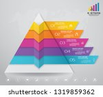 5 steps pyramid with free space ... | Shutterstock .eps vector #1319859362