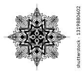 mandala ornamental black... | Shutterstock .eps vector #1319880602