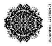 mandala ornamental black... | Shutterstock .eps vector #1319880605