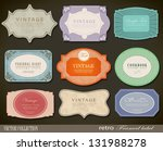 Stock vector set of retro vintage labels vector illustration 131988278