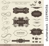 calligraphic design elements ... | Shutterstock .eps vector #131990456