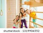 portrait of three friends... | Shutterstock . vector #1319906552